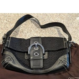 Coach Black Shoulder Bag
